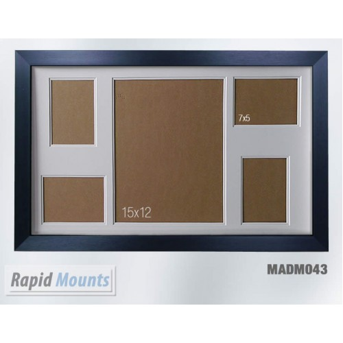 """13""""x9"""" white picture frame with mount to fit 2 7x5 photos"""